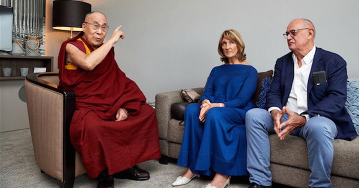 Toutut-Picard and Dalai Lama