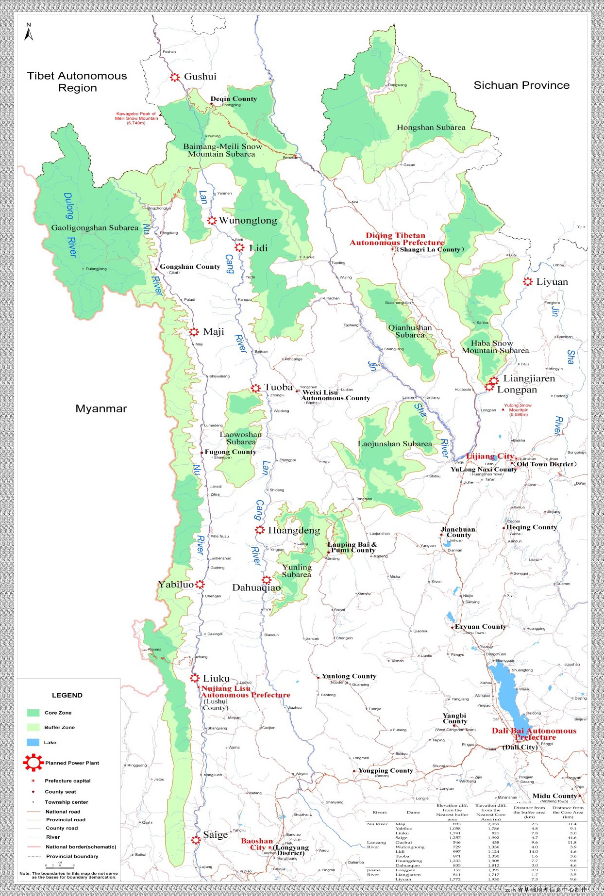 Hydropower dams proposed