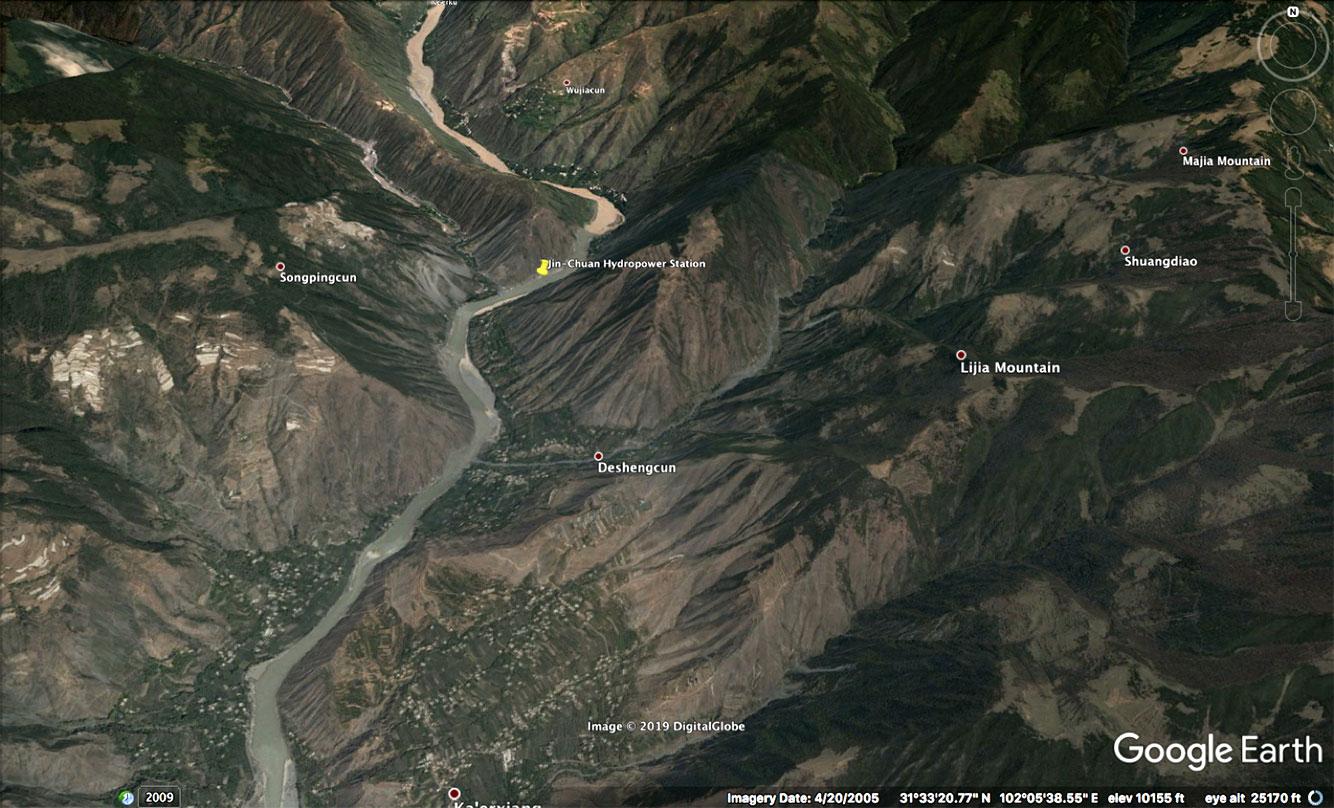hydropower station at Jinchuan