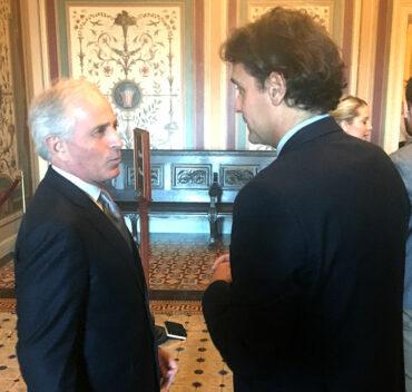 Bob Corker and Matteo Mecacci