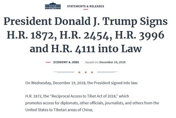 Trump had signed RATA into law