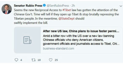 Rubio tweet
