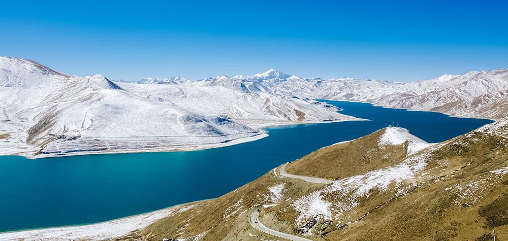 Tibet Yangzhuo Zongyang Lake Snow