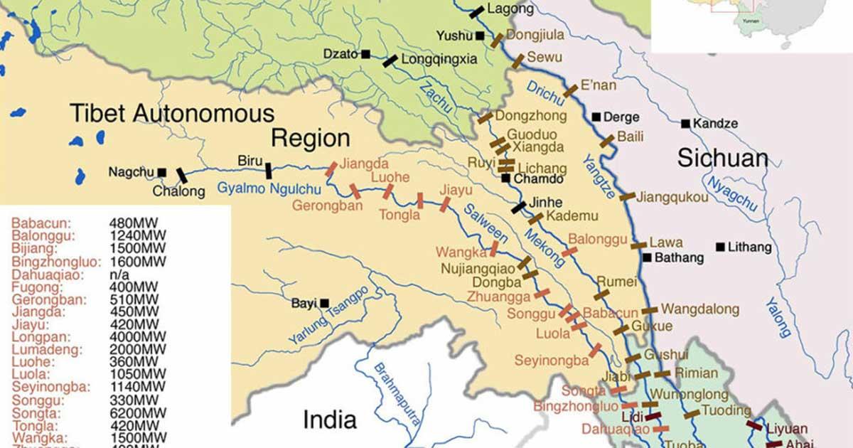 hydro dam map