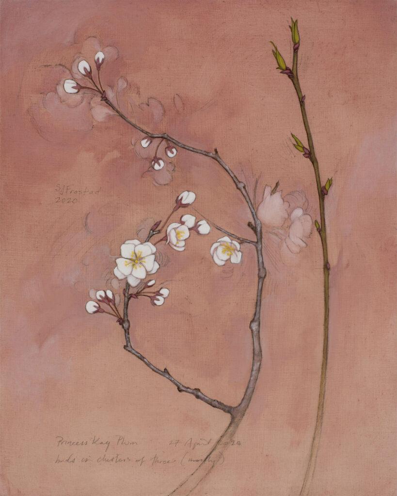 "Princess Kay, 2020. Graphite & oil on wood panel, 10x8"" Sold"