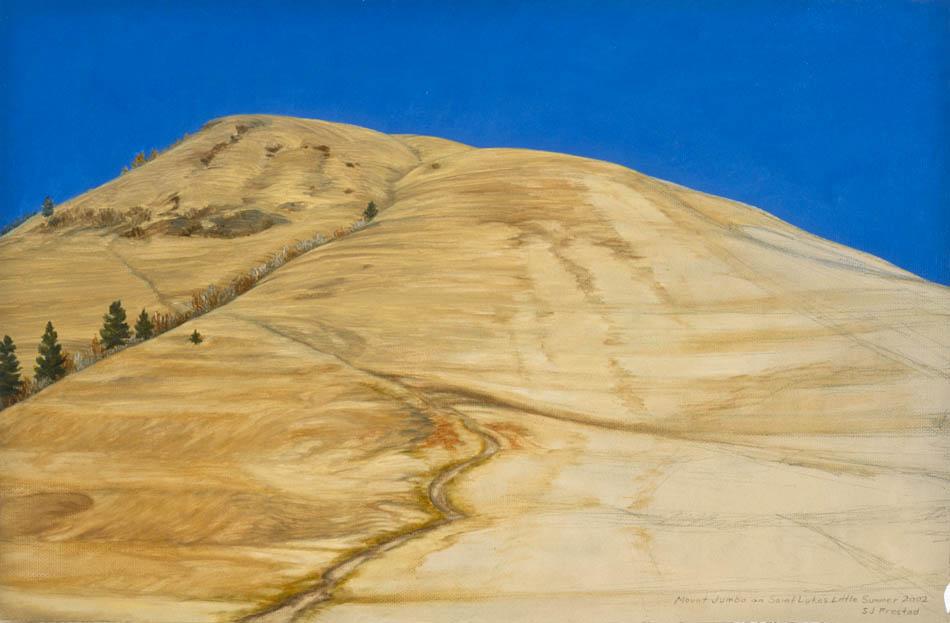 """Mount Jumbo (SLLS XVII), 2002. Oil on paper, 12x18"""""""