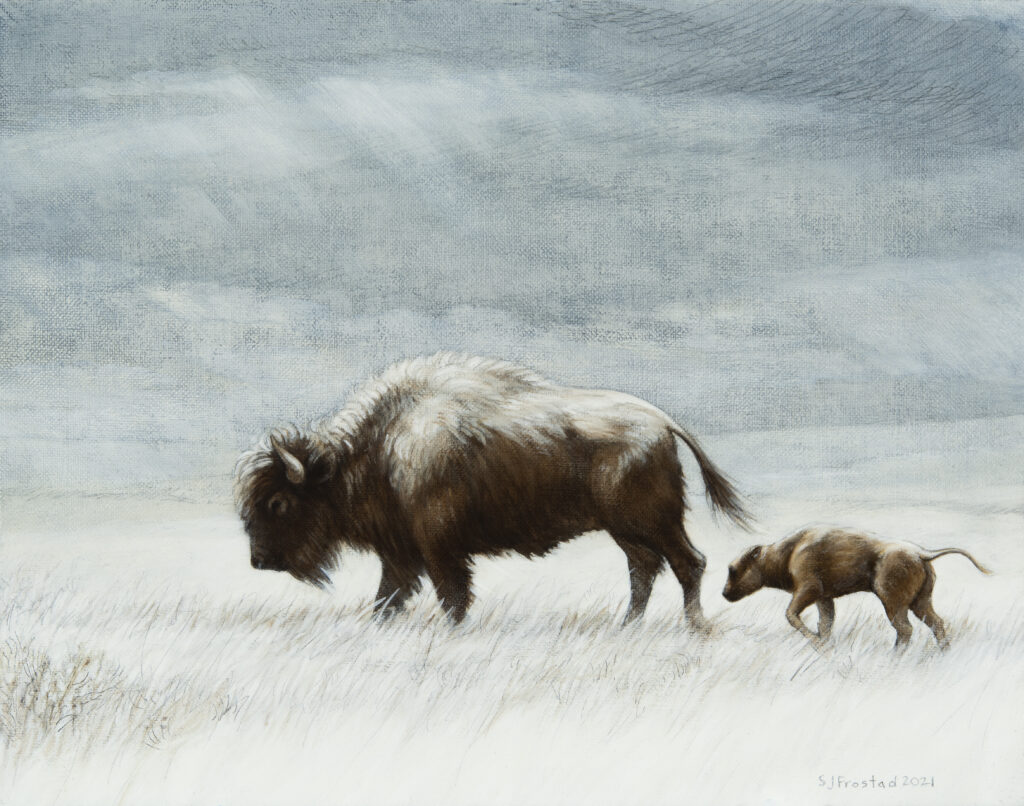 """Undaunted, 2021. Graphite & oil on canvas panel, 11x14"""", Sold"""