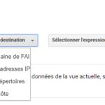 Sélectrionner la destination de filtre dans Google Analytics