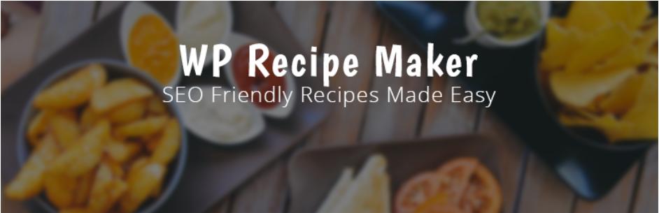 image entête extension wordpress WP Recipe Maker