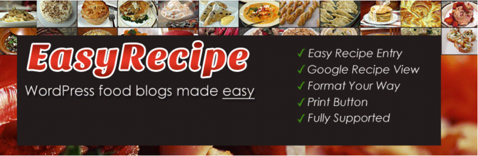 image entête extension wordpress easyrecipe