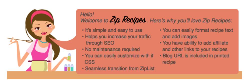 image entête extension wordpress zip recipes