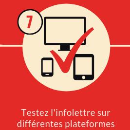 ordinateur tablette cellulaire noir coche rouge fond beige fond carré rouge numéro 7 texte