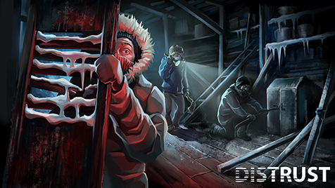 """Inspired by """"The Thing"""" movie, Distrust is the Arctic survival game that will bring you to the brink of insanity!"""