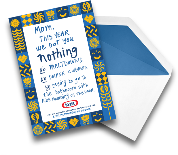 Kraft Will Reimburse You If You Hire a Babysitter on Mother's Day!