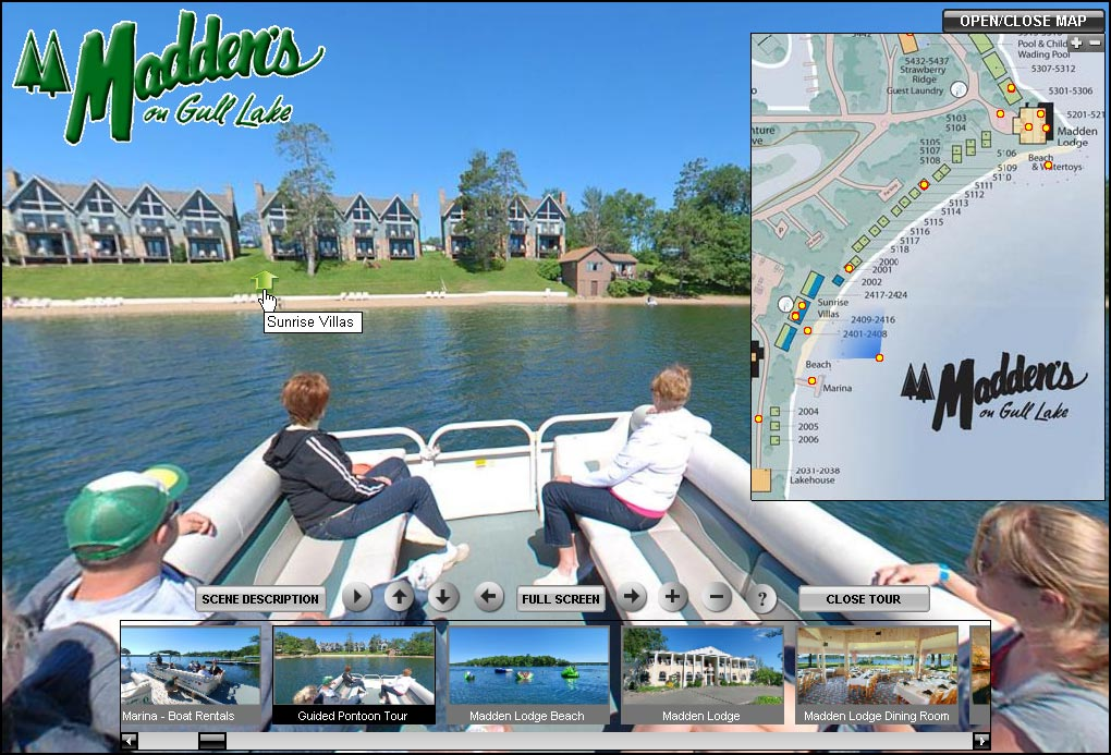 Madden's Resort on Gull Lake Virtual Tour Produced by go360media