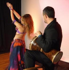 Belly dancer New York Mariyah with drummer Faisal
