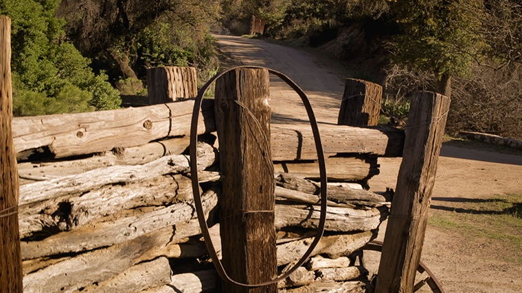 Wood Fence and Driveways at COD Ranch