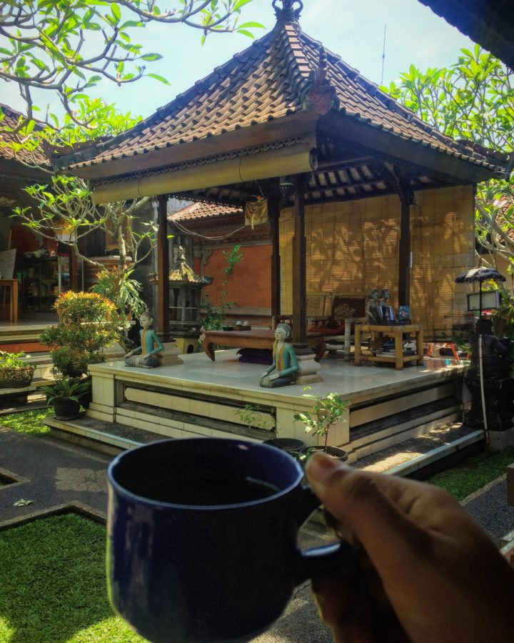 Morning Coffee in a homestay at Bali, Indonesia