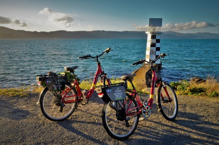 Exploring Wellington, North Island, New Zealand, together on e-bikes!