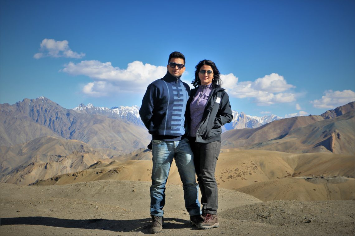 Somewhere on Srinagar-Leh Highway - My husband is my pillar of strength!