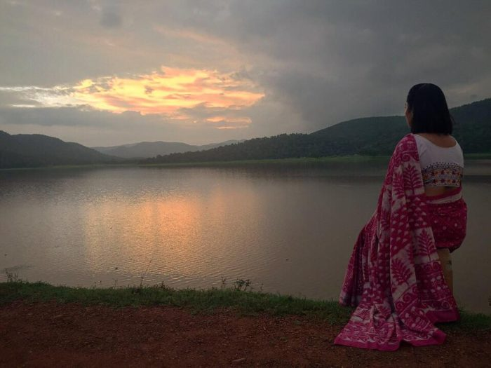 Quietly appreciating one of the best sunset locations near Kawardha, Chhattisgarh.