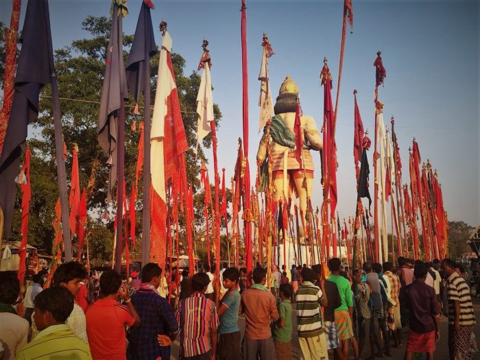 A procession during the tribal festival of Fagun Mandai at Dantewada, Chhattisgarh.