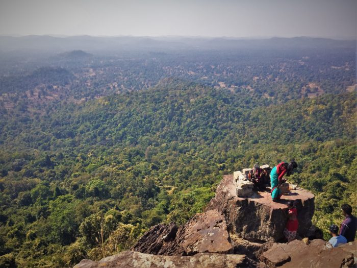Dholkal Ganesh at the height of almost 3000 ft. watching over the Bailadila Range, Dantewada, Chhattisgarh.