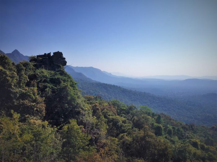 The endless view of Bailadila Range from Dholkal hill top, Dantewada, Southern Chhattisgarh.