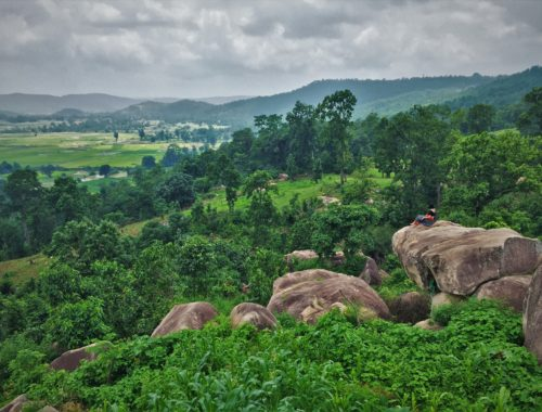 Enjoying the view at Jashpur district, Chhattisgarh. Can you even spot me? Is Chhattisgarh safe for tourists?