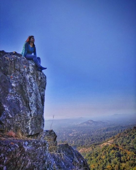 Soaking the beauty of the landscape at Dholkal Peak, Dantewada district, Chhattisgarh.