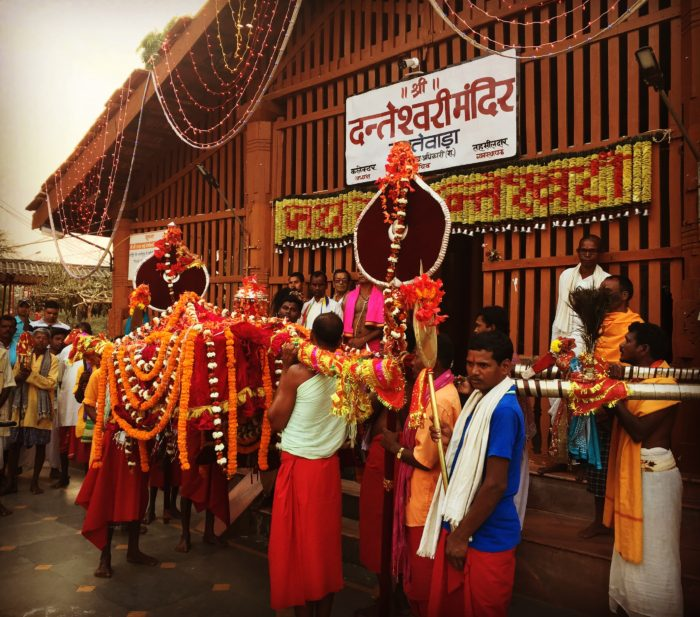 One of the ceremonies during Fagun Mandai festival at Maa Danteshwari temple, Dantewada, Chhattisgarh.