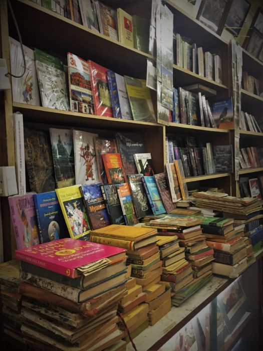 I make sure to visit at least one old book store in any new country I visit. Pic: Exploring an old book store at Yangoon, Myanmar.