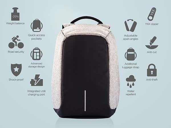 Cool features of an anti-theft laptop backpack. Source - Google