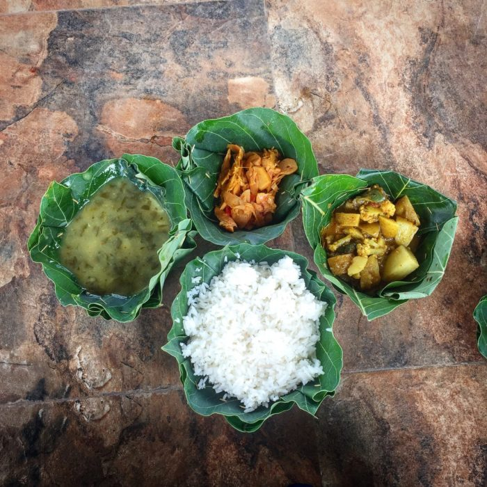 Some freshly prepared tribal food during camping at Chitrakote Waterfall.
