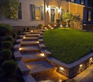 Entry Landscape Lighting Billerica, MA