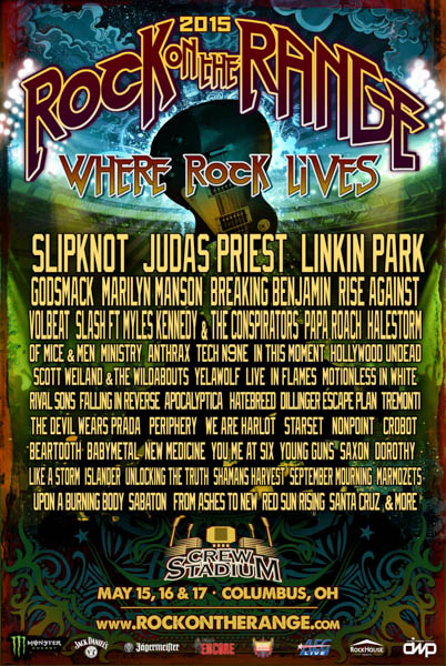 Rock on the Range Announce 2015 lineup