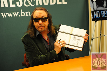 "Want to win an autographed copy of Ace Frehley's book ""No Regrets: A Rock and Roll Memoir?"""
