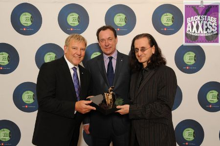 Rush touring news and exclusive photos from the Canadian Songwriters Hall of Fame