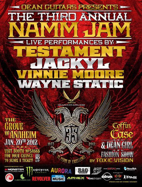 3rd Annual Dean Guitar Namm Jam 2012