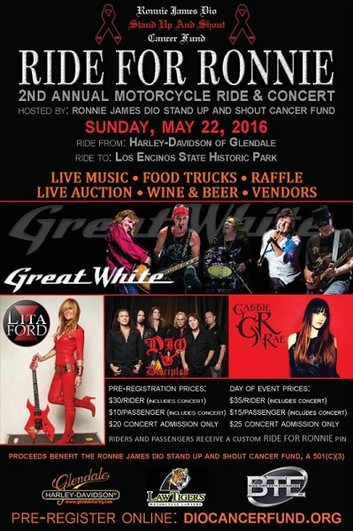 """2nd Annual """"Ride For Ronnie"""" Motorcycle Rally & Concert"""