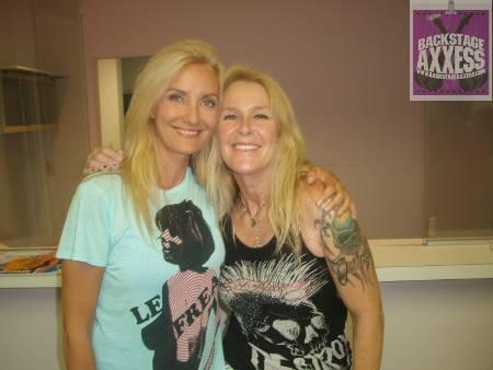 Lita Ford and Sass Jordan @ Molson Concert Series, Lockport, NY 7-24-09