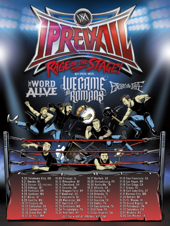 I PREVAIL Announces The Rage On The Stage Fall Tour