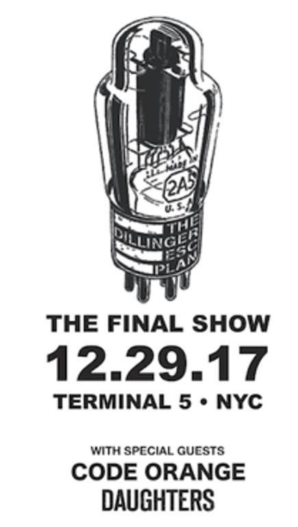 THE DILLINGER ESCAPE PLAN Announces Final Show