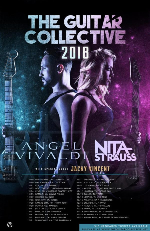 "ANGEL VIVALDI & NITA STRAUSS Announce ""The Guitar Collective 2018"" Co-Headline Tour"