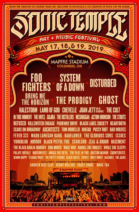 Sonic Temple Art + Music Festival Lineup Announced