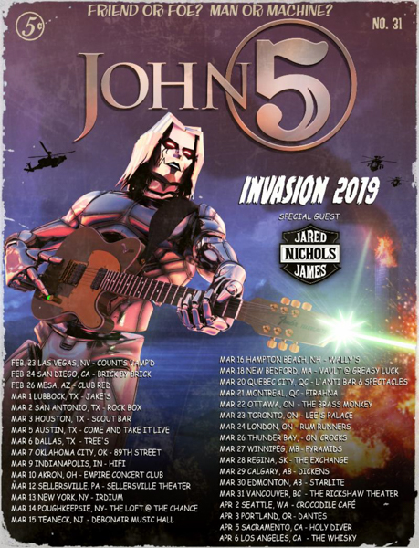 JOHN 5 AND THE CREATURES Announce New Album Details & Winter/Spring 2019 Tour Dates