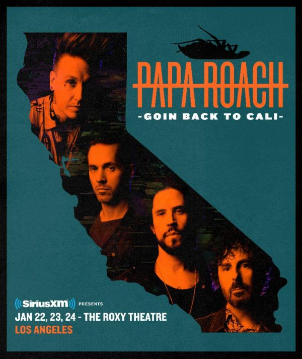 """PAPA ROACH Are """"Goin' Back To Cali"""" With Special Shows at The Roxy"""