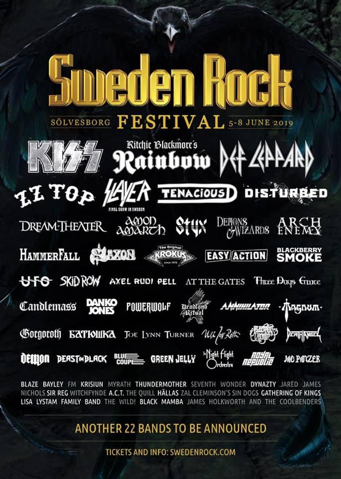Sweden Rock Festival Announces Another 10 Bands