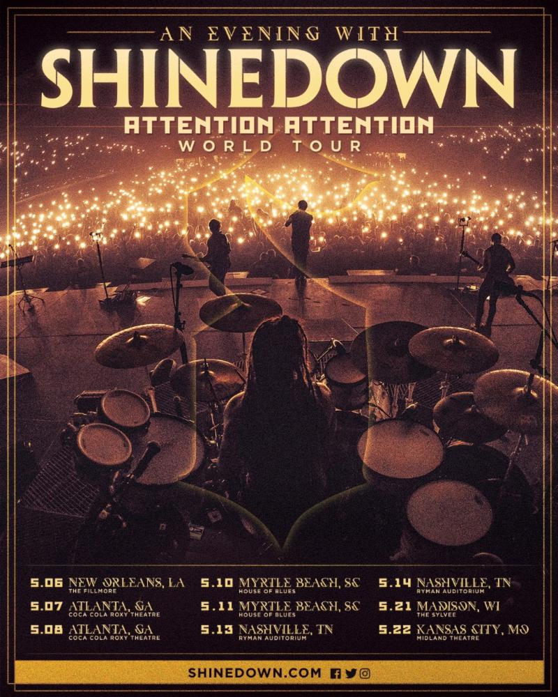 An Evening With Shinedown' Dates Kick Off May 6th