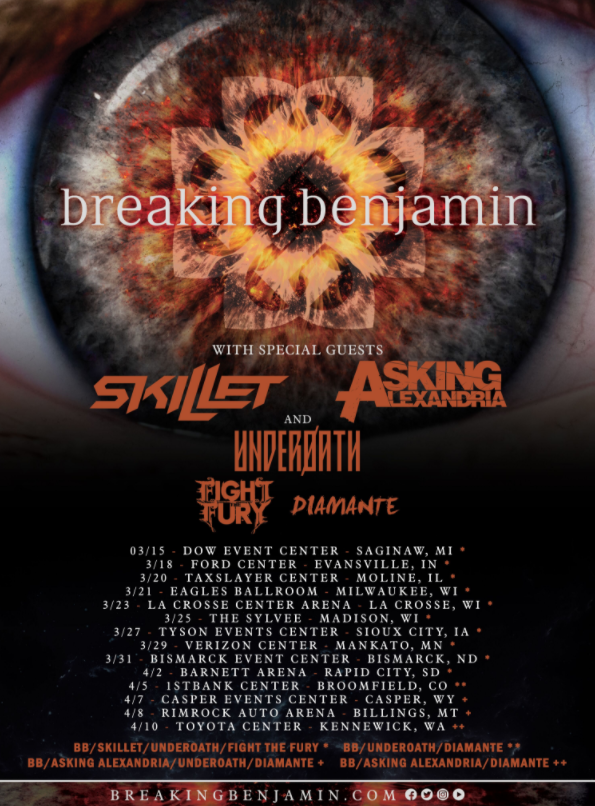 Breaking Benjamin Announces Spring Headline Tour